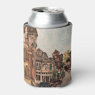 Little Italy, Cleveland Painting on Can Cooler