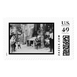 Little Italy Festival in New York City 1908 Stamp