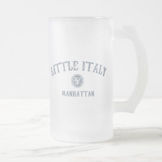 Little Italy Frosted Glass Beer Mug