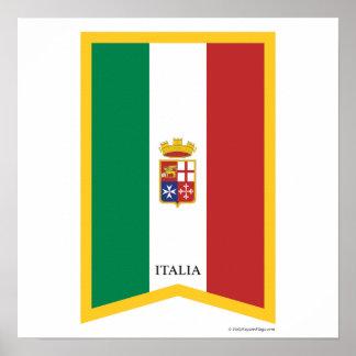 Little Italy New York City Italian Flag Poster