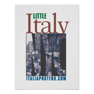 Little Italy New York City Logo Poster