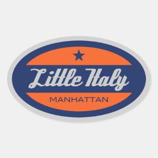 Little Italy Oval Sticker