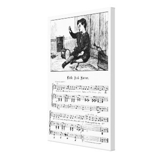 Little Jack Horner Mother Goose Nursery Rhyme Canvas Print