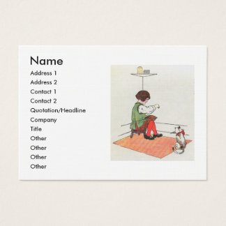 Little Jack Horner  Sat in the corner Business Card