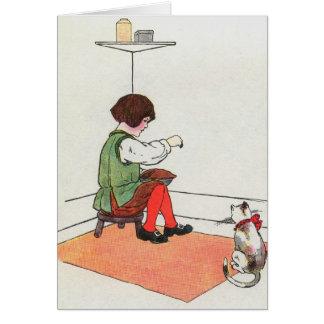 Little Jack Horner  Sat in the corner Card