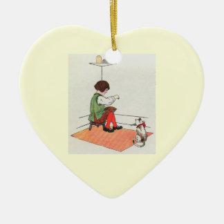 Little Jack Horner  Sat in the corner Ceramic Ornament