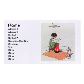Little Jack Horner  Sat in the corner Double-Sided Standard Business Cards (Pack Of 100)