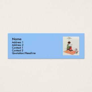 Little Jack Horner  Sat in the corner Mini Business Card