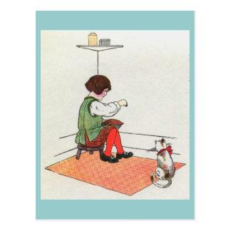 Little Jack Horner  Sat in the corner Postcard