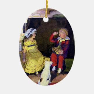 Little Jack Horner Vintage Nursery Rhyme Ceramic Ornament