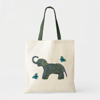 Little Jade Elephant Canvas Tote