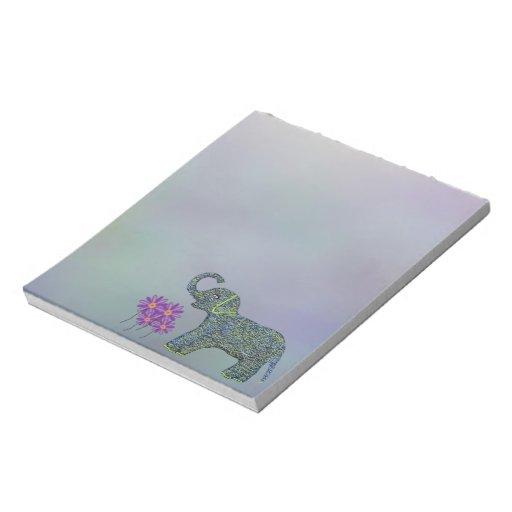 Little Jade Elephant Flower Notepads
