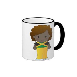 Little Jamaican Girl Ringer Coffee Mug