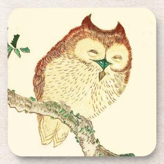 Little Japanese owl Beverage Coasters