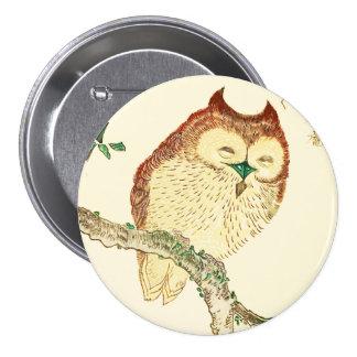 Little Japanese owl Pinback Button