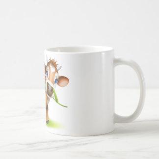 Little Jersey cow eating daisy Coffee Mug