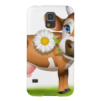 Little Jersey cow eating daisy Galaxy S5 Cases