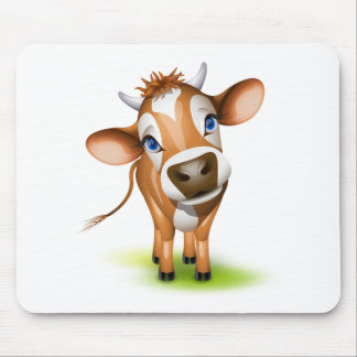 Little jersey cow mouse pad