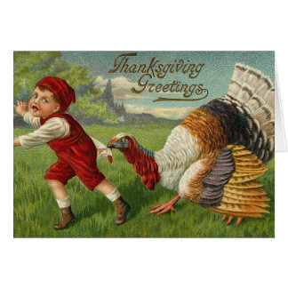"""Little Jimmy Gets """"Gobbled"""" Greeting Cards"""
