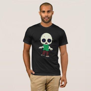 Halloween Themed Little Jimmy Zombie Illustration T-Shirt