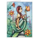 Little Jungle Mermaid Card by Molly Harrison