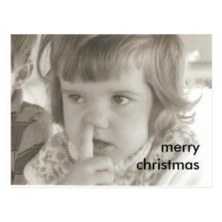 little_katie, merry christmas postcard