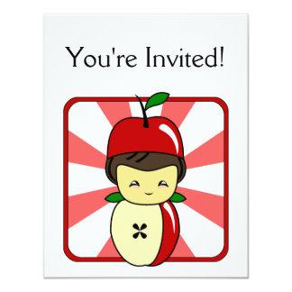 Little Kawaii Apple Boy With Seeds Card