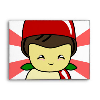 Little Kawaii Apple Boy With Seeds Envelope