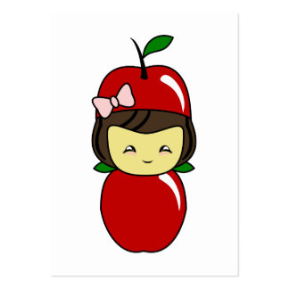Little Kawaii Apple Girl Large Business Cards (Pack Of 100)