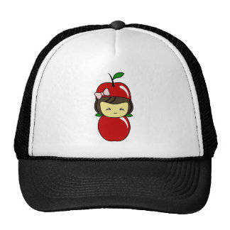 Little Kawaii Apple Girl Trucker Hats