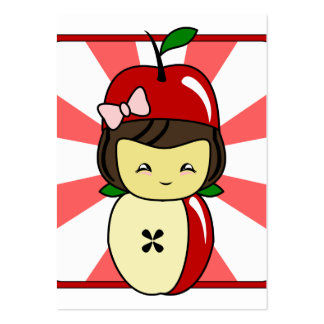 Little Kawaii Apple Girl With Seeds Large Business Cards (Pack Of 100)