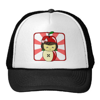 Little Kawaii Apple Girl With Seeds Hat
