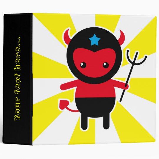 Little kawaii Ninja devil 3 Ring Binder