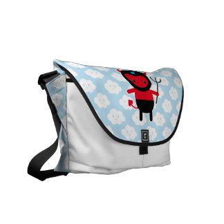 Little kawaii Ninja devil Courier Bags