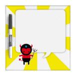 Little kawaii Ninja devil Dry-Erase Board