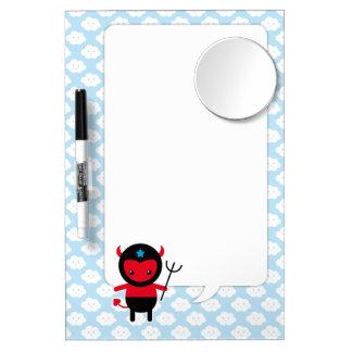 Little kawaii Ninja devil Dry Erase Board With Mirror