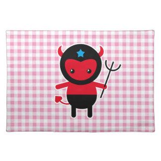 Little kawaii Ninja devil Placemats