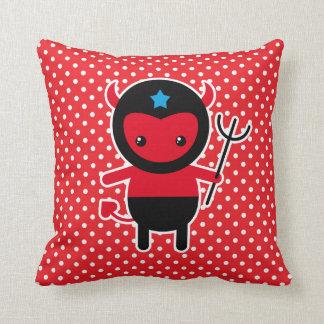 Little kawaii Ninja devil Throw Pillow