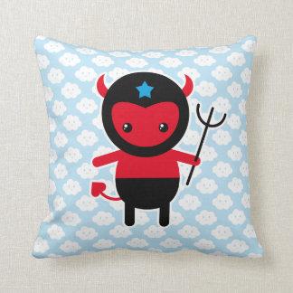 Little kawaii Ninja devil Throw Pillows