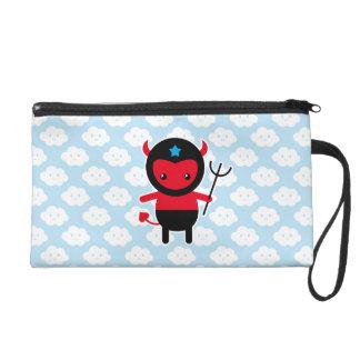 Little kawaii Ninja devil Wristlet Clutches
