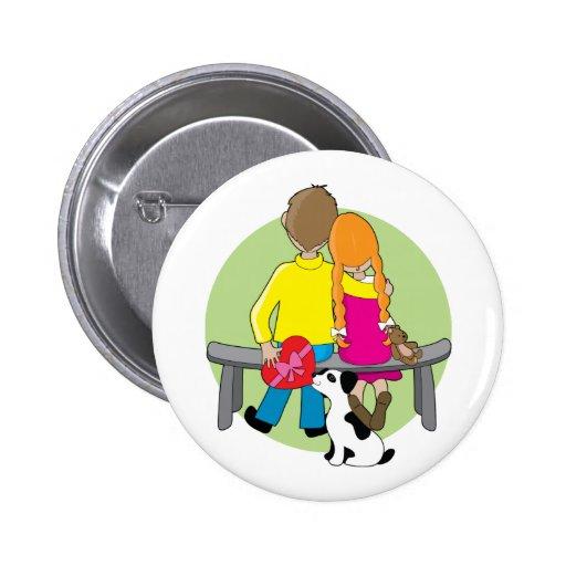 Little Kids Valentine Button
