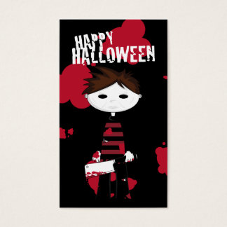 Little Killer Halloween Bookmark Business Card
