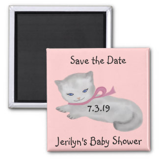 Little Kitten Baby Shower Save the Date Magnets