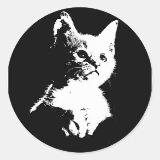 Little Kitten Classic Round Sticker