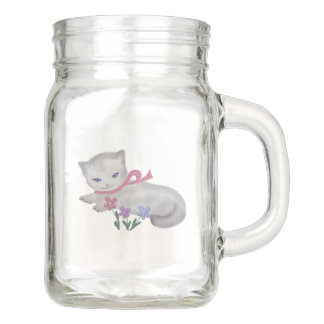Little Kitten Mason Jar