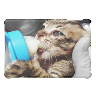 Little Kitten Sucking on a Baby Bottle Cover For The iPad Mini