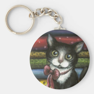 Little Kitty at the Tailor's Keychains
