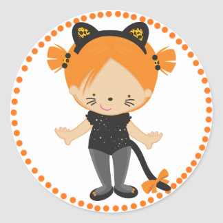 Little Kitty Girl Goodie Bag Stickers