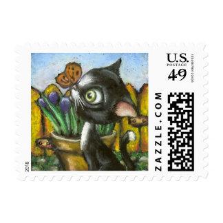 Little Kitty Postage Stamp