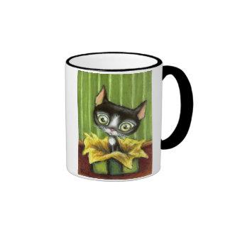 Little Kitty Ringer Mug